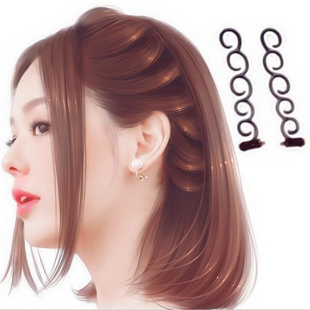 Women Fashion Flower Magic Hair Clip Bride Stylist Queue Twist Plait Hair Braid DIY Hairstyle Styling Hair Accessory