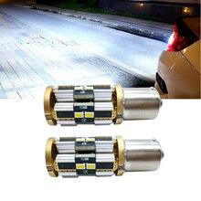 цена на 2x Canbus 1156 BA15S LED P21W 7506 7527 LED Bulbs Auto Light Turn Signal Backup Reverse Brake Light for Hyundai Kia Honda Ford