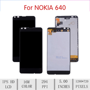 Image 2 - ORIGINAL For NOKIA Microsoft Lumia 640 LCD Touch Screen Digitizer Assembly For Nokia Lumia 640 Display withFrame RM 1075 RM 1077