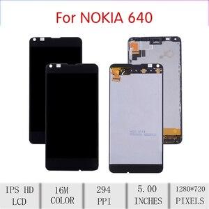 Image 2 - Original para nokia microsoft lumia 640 lcd tela de toque digitador assembléia para nokia lumia 640 display withframe RM 1075 RM 1077