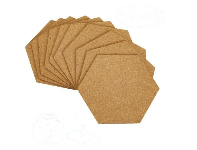 Self-Adhesive Cork Board Tiles Mini Wall Bulletin Board With 50 Multi Color Push Pins 1/5/8pcs You Choose Quantity