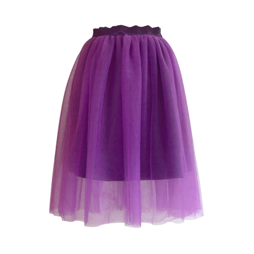 Image 5 - Summer Tulle Pleated Tutu Skirt plus Large Size Party Street Casual Women Ball Gown Skirt Dance White Pink Green Black Gray FatSkirts   -