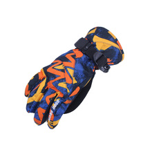 Gsou Snow Boys Girls Skiing Gloves Windproof Long Wrist Winter Warm Mittens Snowboard Children Waterproof Ski Gloves Soft Inner gsou snow children s skiing suits boys and teenagers outdoor windproof waterproof breathable warm skiing clothes