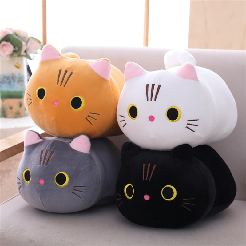 Stuffed & Plush Animals Cute Soft Cat Plush Pillow Cushion Kawaii Cat Soft Plush Toys Kids Children Birthday Christmas Gift