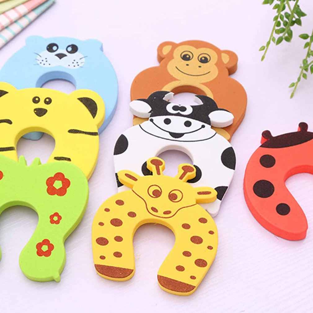 1 Pc Kids Baby Cartoon Animal Jammers Stop Edge Corner Guards Deurstopper Houder Lock Baby Veiligheid Vinger Protector Willekeurige kleur