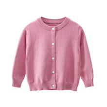 Autumn Winter Sweater Tops Baby Children Clothing Boys Girls Knitted Cardigan Sweater Kids Spring Wear Clothes Costumes