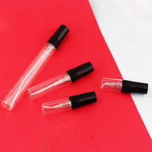 Siyah 2ml 3ml 5ml 10ml sis sprey şişesi pompalı sprey şişe seyahat doldurulabilir cam parfüm püskürtücülü şişe