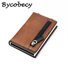 Умный кошелек bycobecy rfid кредитный держатель для карт металлические