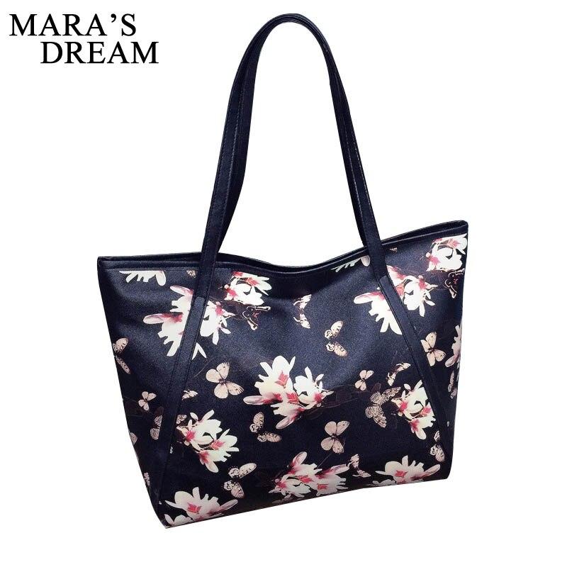 Mara's Dream Women Bag Zipper Handbag Flower Quality Bags Big Capacity Tote Ladies Evening Bag Female Messenger Bags Sac Handbag