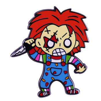 Cult of Chucky Pin Badge The evil doll for Child's Play is the newest addition to the Slasher series. image