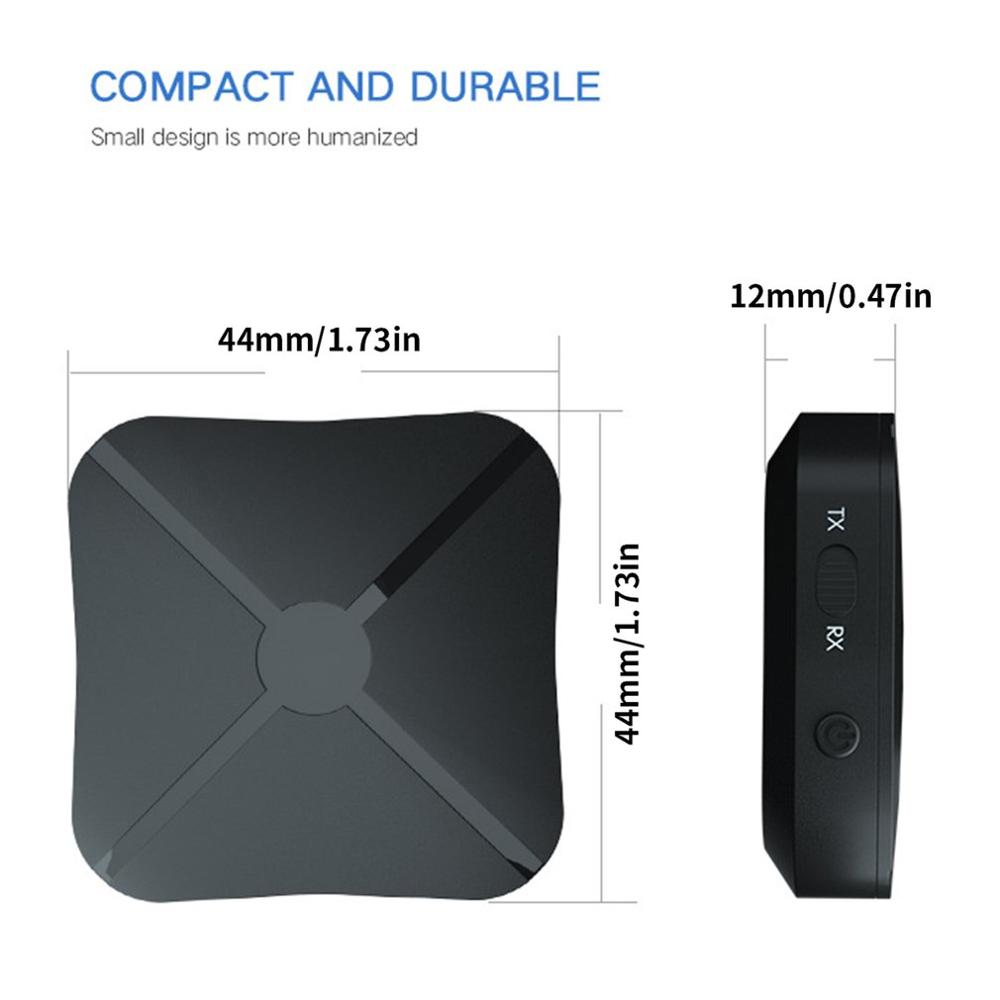 New Portable Wireless Transmitter Receiver Two In One Adapter Tv Car Speaker Mobile Computer Audio Strong Compatibility