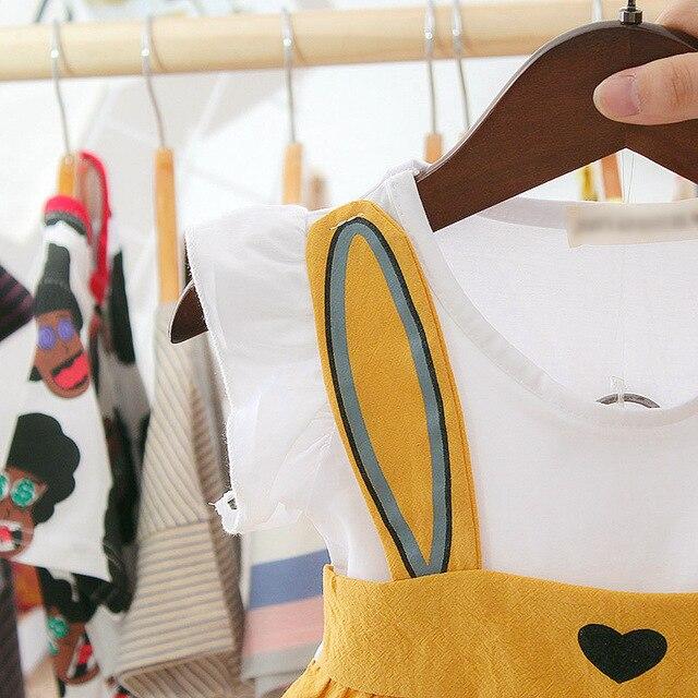 3 6 9 12 24 miesiące 1 2 lata noworodek dziewczynek ubrania bez rękawów sukienka + spodenki letnie małe dziewczynki zestawy odzieżowe