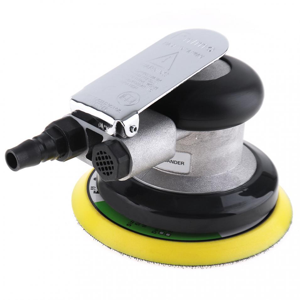 Pneumatic Tools 5 Inch Non vacuum Matte Surface Round Pneumatic Sandpaper Random Track Pneumatic Sander Polishing Sander in Pneumatic Tools from Tools