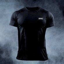 Männer Fitness Engen T-shirt Sommer Schnell trocknend Elastische Muscle Gestaltung Laufen Im Freien Training Kurzarm Tops Kompression