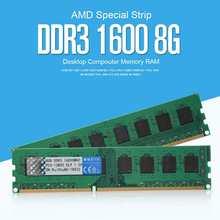 DDR3 1600 8G PC pamięć stacjonarna pamięci RAM karty DDR3 1600MHz 8GB AMD pamięci RAM 240pin pamięć przenośna karty do pulpit PC komputer