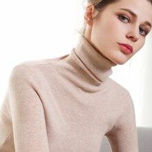 2019 Otoño e Invierno nuevos suéteres de mujer cabeza de mujer versátil auto-cultivo estiramiento suéter de fondo para mantener el calor