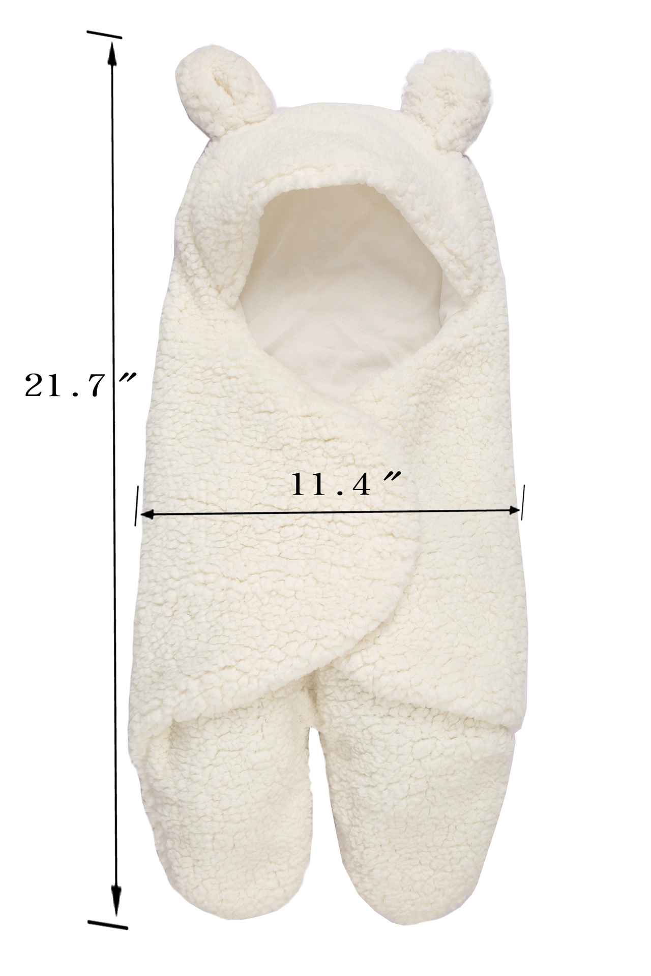 Baby sleeping bag Newborn split-legged swaddle warmth and velvet quilt split-legged sleeping bag