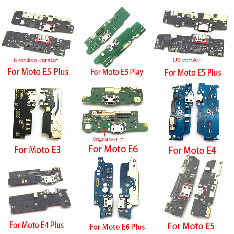 USB Charging Charger Port Dock Connector Board Flex Cable For Motorola Moto M E3 E4 E5 Play Go E6 Plus X4 Replacement Parts