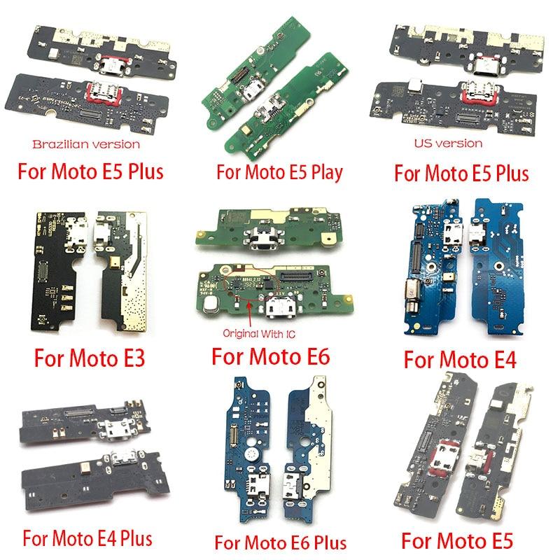 USB Charging Charger Port Dock Connector Board Flex Cable For Motorola Moto M E3 E4 E5 Play Go E6 Plus X4 Replacement Parts