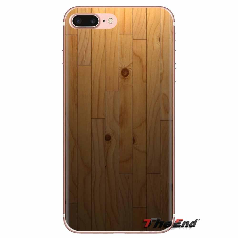 Para xiaomi mi6/mi 6 A1 Max mi x 2 5X 6X rojo mi nota 5 5A 4X 4A A4 4 3 Plus Pro suave funda de carcasa transparente texturas de Parquet de madera