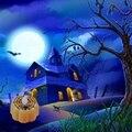 Горячая Распродажа  12 шт.  светильник в виде тыквы на батарейках для Хэллоуина  мерцающий светодиодный светильник  беспламенные Свечи  специ...