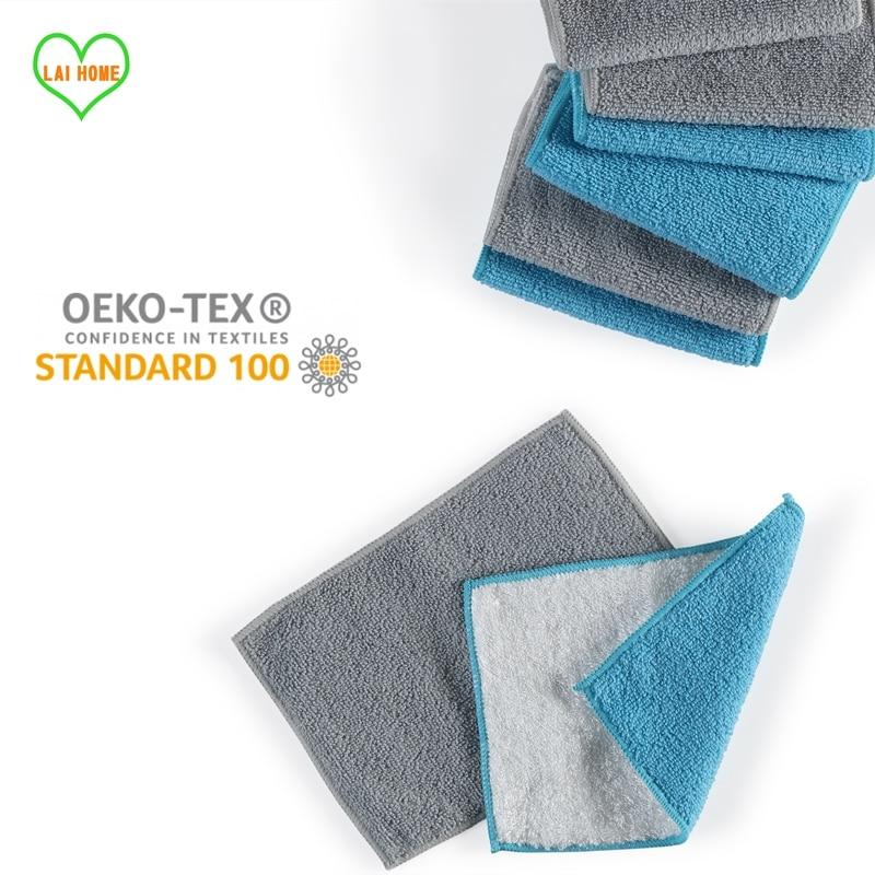 Тряпки для кухни, впитывающие полотенца из микрофибры, двусторонние, эффективные, для уборки дома, посуды