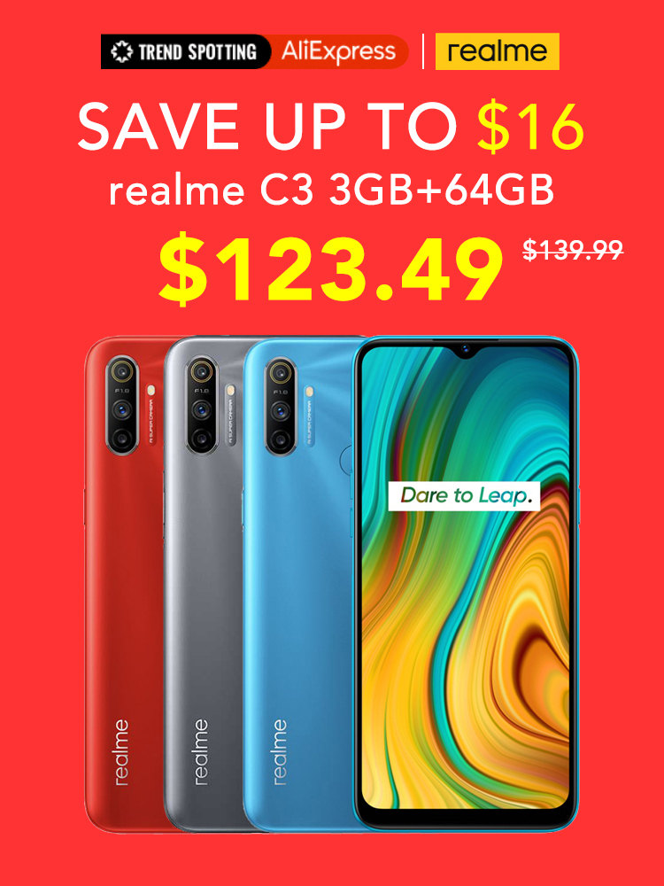 Realme 64GB 3GB GSM/LTE/WCDMA NFC Adaptive Fast Charge Bluetooth 5.0 Octa Core Fingerprint Recognition