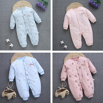 Baby Clothes NewBorn Baby Boy Girl Thick Romper Children's Jumpsuit Cotton Outfits Winter Clothes Warm Infant Clothing 2020 newborn baby winter hoodie clothes boys baby clothing girl 9m 24m boy jumpsuit christmas baby romper warm clothing for kids