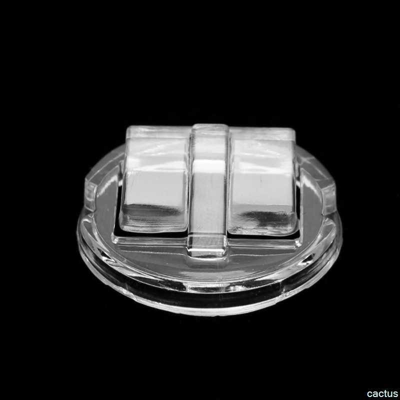 Transparan Cincin Display Stand Pemegang Perhiasan Tray Plastik Cincin Showcase