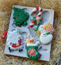 Christmas Santa Snowman Tree Sock Silicone Fondant Soap 3D Cake Mold Cupcake Jelly Candy Chocolate Decoration Baking Tool