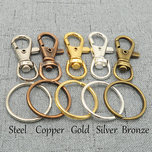 Image 1 - 50   Key Chain Supplies   Swivel Clasp Key Clasp Trigger Snap Clip Hook + Split Key Ring   Silver Plated, Bronze, Copper, Steel