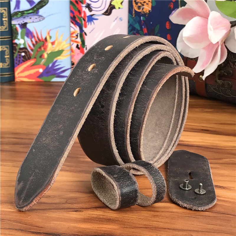 Retro Leather Belts Without Buckles Quality Men Belt Ceinture Homme Mens Leather Belts Without Buckles Strap 95-130CM SP04LC