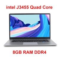 15.6 inch Student Laptop 8GB RAM DDR4 256GB/512GB SSD Notebook intel J3455 Quad Core Ultrabook With Webcam Bluetooth WiFi