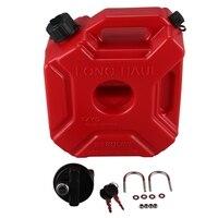 Tanque de combustível 5l lockable plástico latas de gasolina montagem do carro motocicleta jerrycan gás pode gasolina recipiente de óleo vasilha de combustível