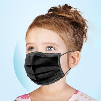 24h Fast Shipping Disposable Child Mask Children Face Mask 50pcs / 100pcs 3-layer Disposable Non-woven Kids Protection Masks