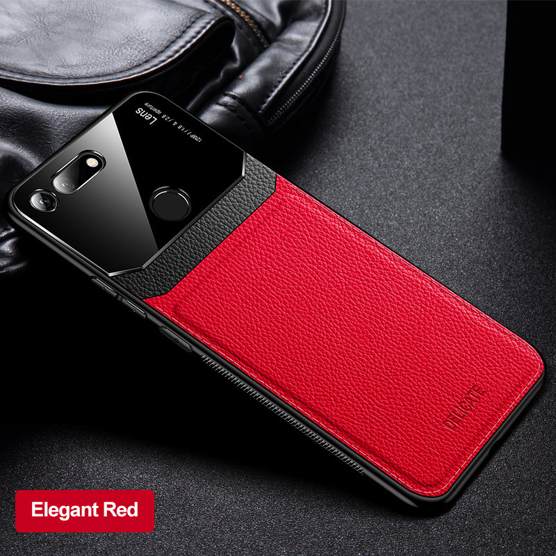 Huawei Honor View 10 20 Case Leather Mirror Glass Hard Phone Back Cover For Huawei Honor V20 V10 View10 View20 PCT L29 Protector