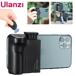 Image 1 - Ulanzi capgripワイヤレスbluetooth selfieブースター2で1ビデオフォト電話アダプタホルダーハンドルグリップスタンド三脚マウント