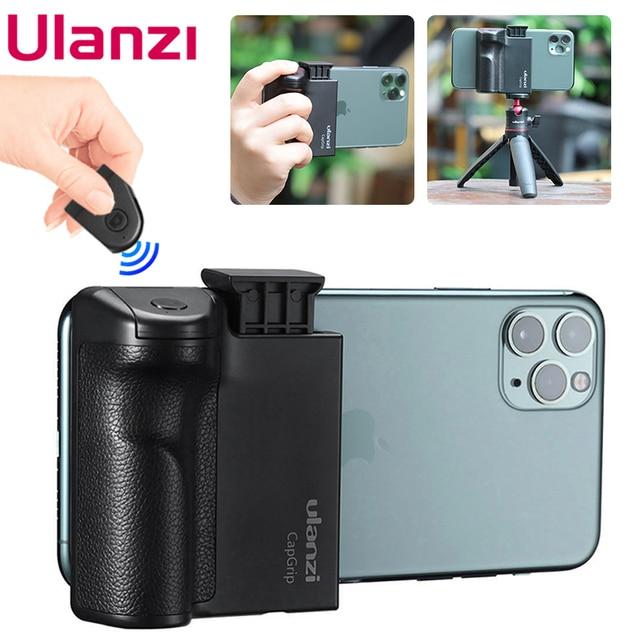 Ulanzi capgripワイヤレスbluetooth selfieブースター2で1ビデオフォト電話アダプタホルダーハンドルグリップスタンド三脚マウント
