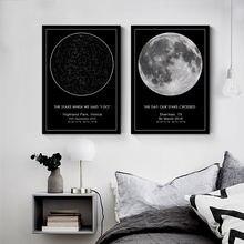 Картина на холсте с изображением звезды и карты заказ Ночная