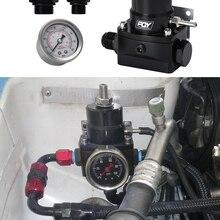 Бесплатная доставка AN8 регулятор топлива высокого давления w/ boost - 8AN 8/8/6 EFI регулятор давления топлива с манометром PQY7855