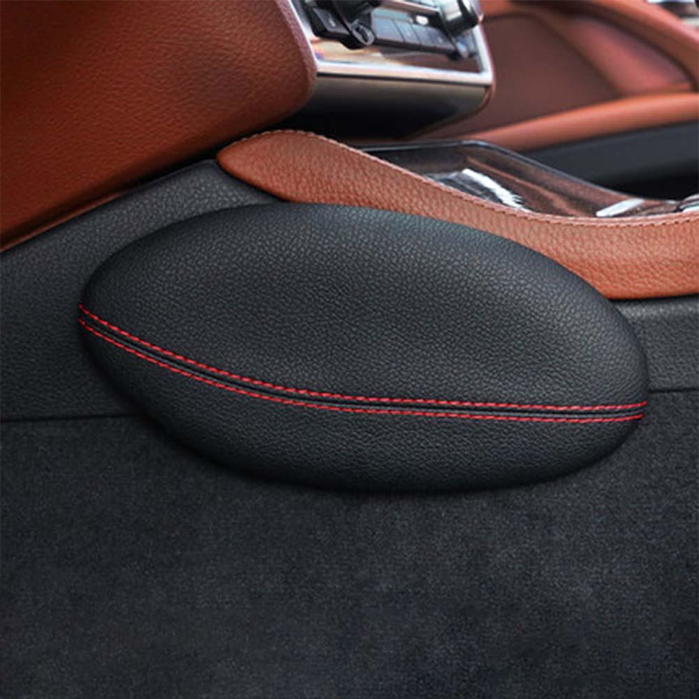 Car Foot Support Pillow Leg Support Car Seat Cushion Leather Leg Cushion Knee Pad Thigh Support Pillow Interior Car Accessories