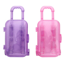 Toy Doll-Accessories Travel-Suitcase Plastic 18-Inch Trolley Trunk Kids
