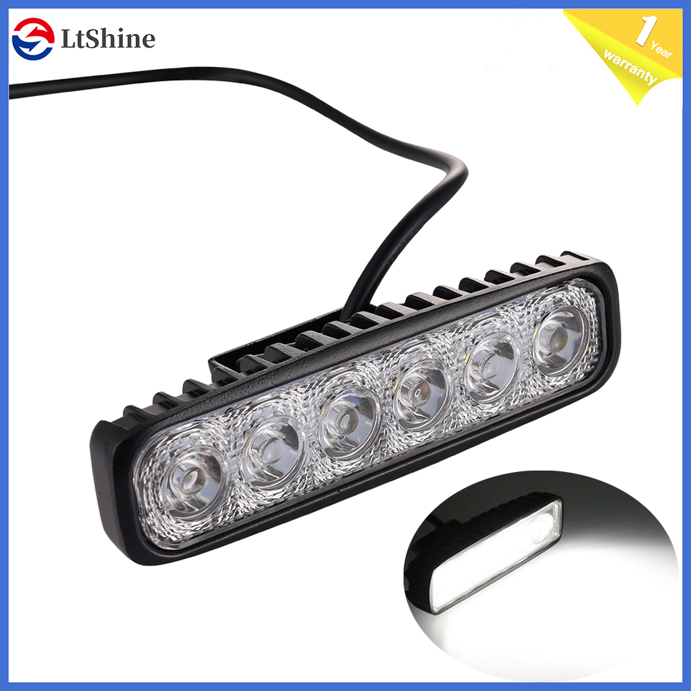 6 Inch 18W Offroad DRL LED Work Light Flood Beam Spotlight 12V 24V Daytime Running Light For 4x4 ATV 4WD SUV Car Styling IP67