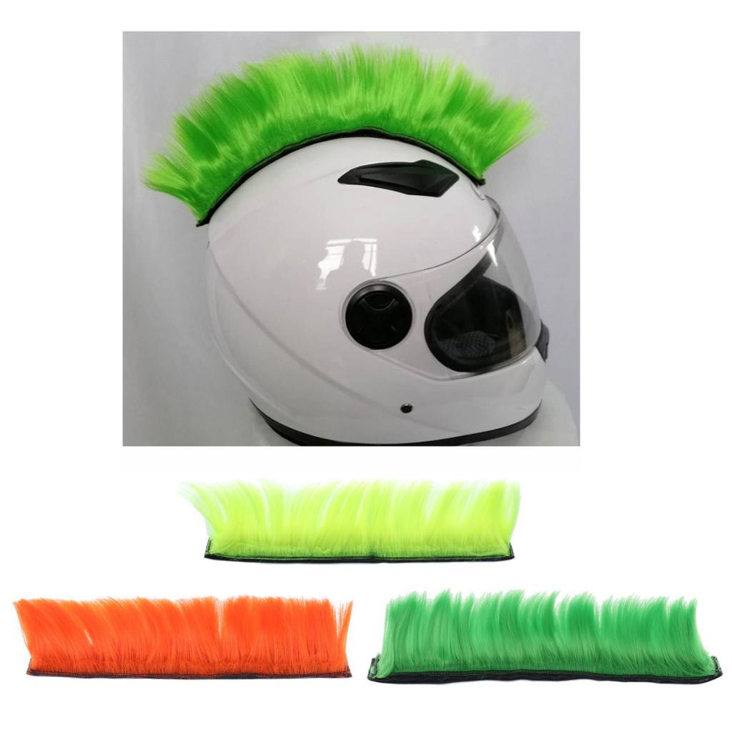 3x Hot Helmet Mohawk Hair for Motorcycle Ski Snowboard Paintball Helmets