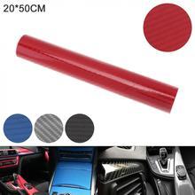 4 Colors 20x50cm PVC 6D Carbon Fiber High Bright Automobile Repacking Sticker Fit for Car/ Motorcycl