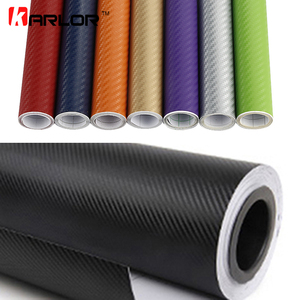 50cm wide 3D Carbon Fiber Vinyl Film 3M Car Stickers Waterproof DIY Auto Vehicle Motorcycle Car Styling Wrap Roll Car Styling(China)