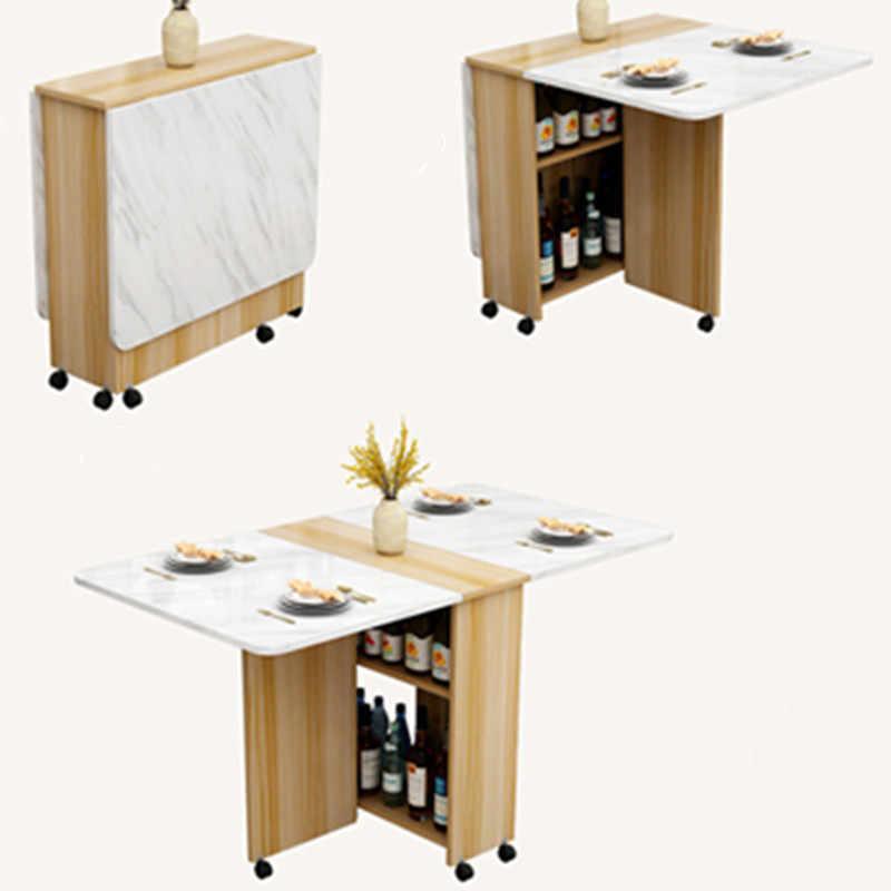 table a manger en bois avec roulettes meuble de salon et de cuisine pliable table murale de bureau ecologique