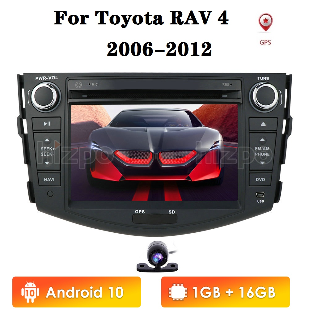 7inch 2din Android 10 Car Radio for <font><b>Toyota</b></font> <font><b>RAV4</b></font> 2006 2007 2008 2009 <font><b>2010</b></font> 2011 2012 GPS Navigation Player Multimedia image