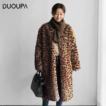 2019Winter New Dark Buckle Imitation Fur Coat Female Long Section Rabbit Faux Was Thin Large Size Sweater