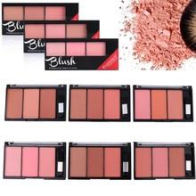 Rosto blush paleta combinação placa de pó natural rouge feminino maquiagem brilho duradouro cores duráveis blush pigmento cosméticos